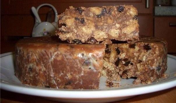 """Торт без выпечки из печенья и творога """"Лентяй"""""""