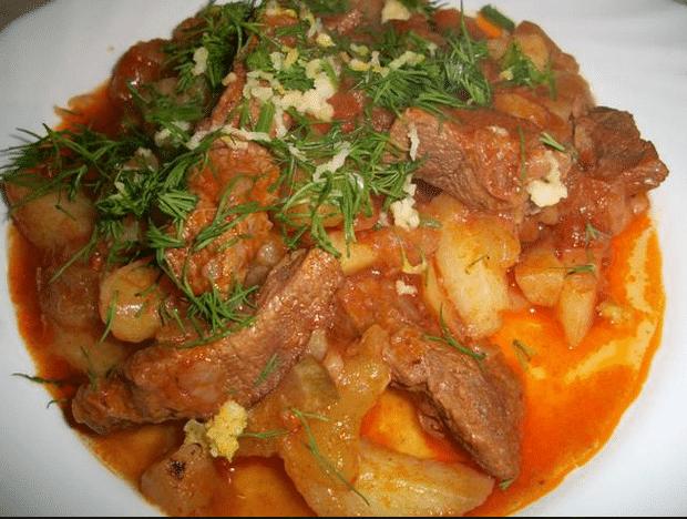 Как приготовить азу из говядины с пошагово