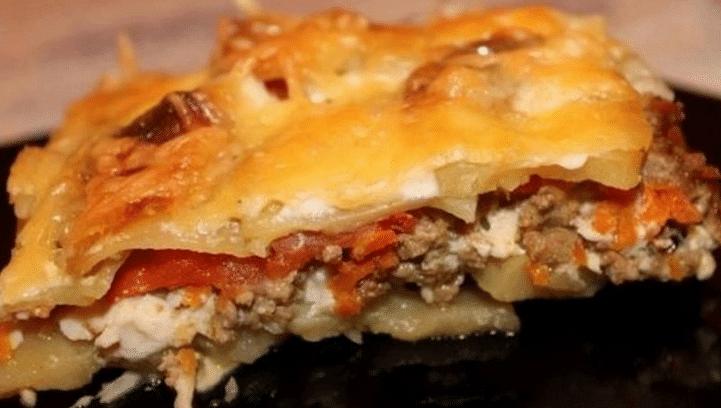 Мясо по-французски с картошкой фарш в духовке рецепт