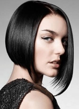 Асимметричный боб на средние волосы