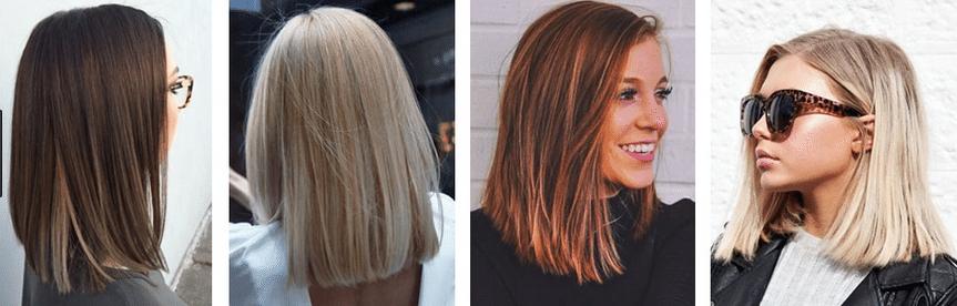Стрижки на средние волосы с прямой челкой 2017-2018