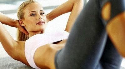 Упражнения для похудения живота и боков - скручивания.