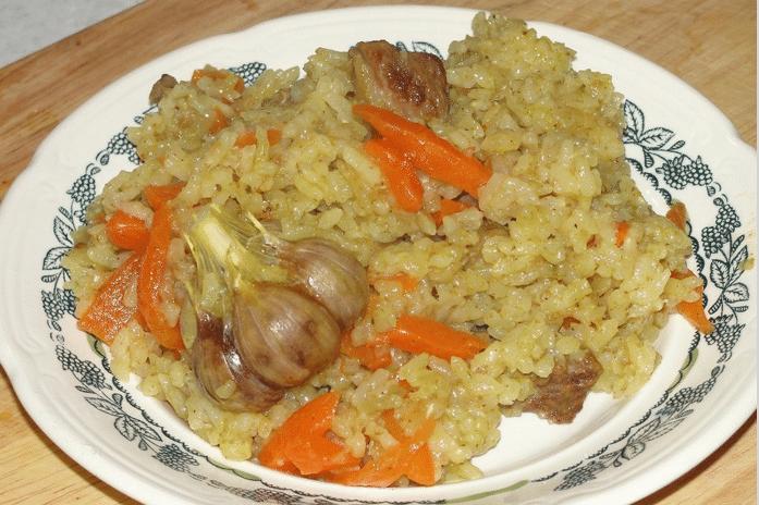 Плов из говядины (узбекский рецепт)