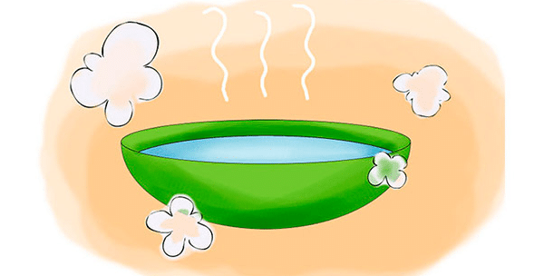Сидячие ванны в горячей воде