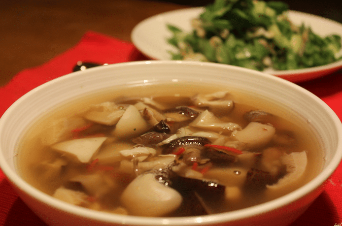 Грибного суп из замороженных грибов