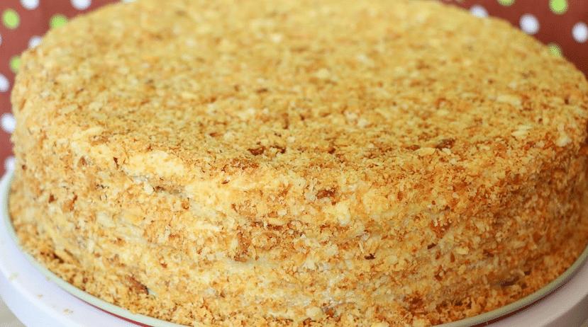 Рецепт торта Наполеон в домашних условиях с фото