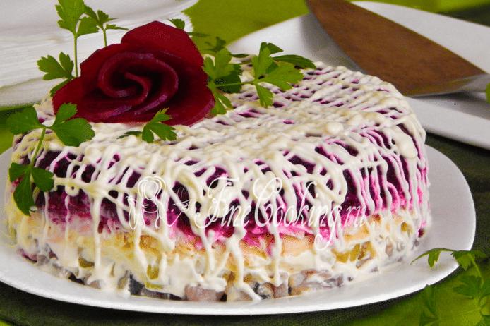 Рецепт селедки под шубой с сыром