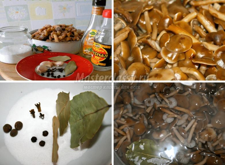 Набор ингредиентов для маринованных опят